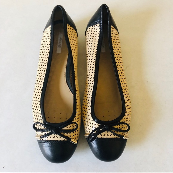 46516857c03 Geox Shoes   Lola Perforated Leather Flats   Poshmark